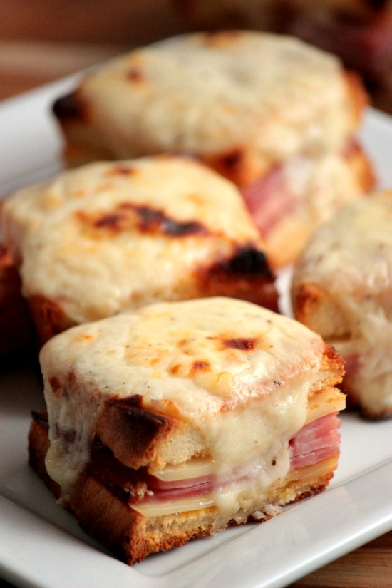 Mini Croque Monsieurs { Baked Ham and Cheese with Bechamel Sauce} # ...