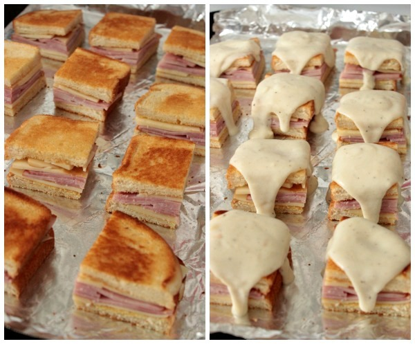 Steps for Mini Croque Monsieurs { Baked Ham and Cheese with Bechamel Sauce} #ShareaSandwich