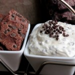 Mint Chocolate Chip Dip with Mint Chocolate Chip Brownie Brittle