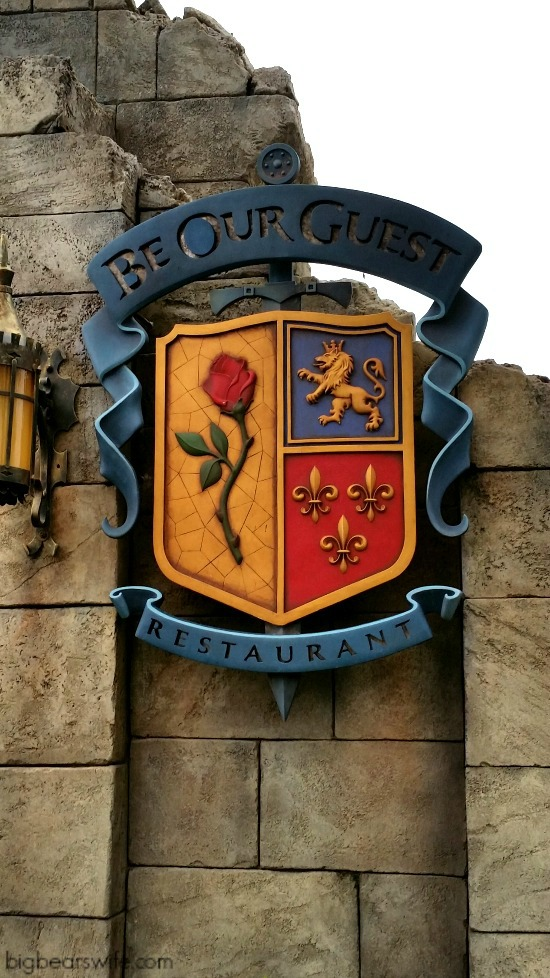Be our Guest is the Beauty and The Beast themed restaurant in Fantasyland which is located inside of the Magic Kingdom!