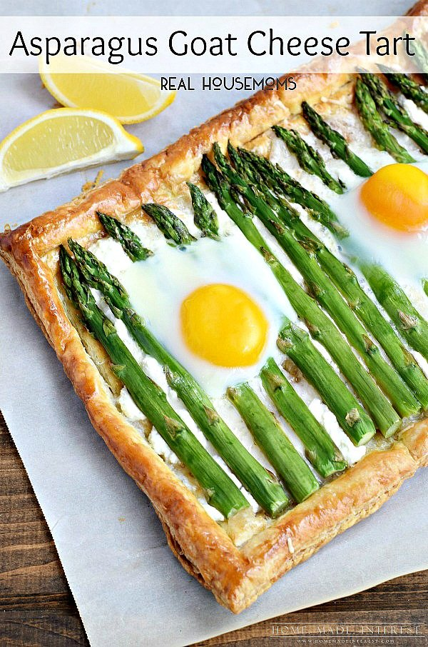 Asparagus Goat Cheese Tart  from Home. Made. Interest