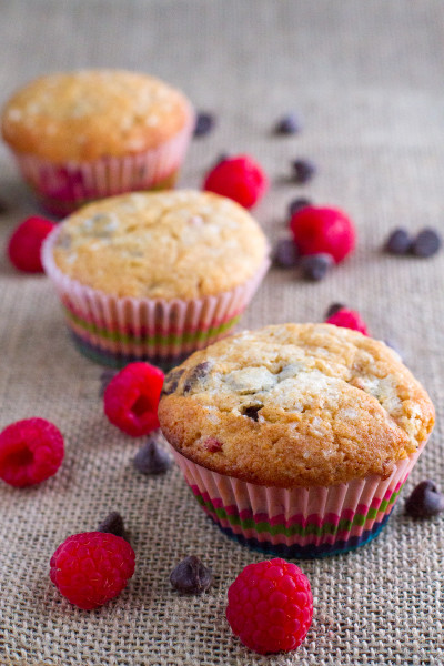 Raspberry Chocolate Chip Muffins from Poet in the Pantry