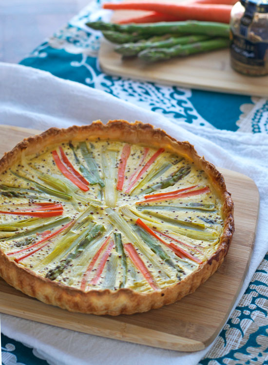 Sunburst Spring Vegetable Quiche with Puff Pastry from Well Plated