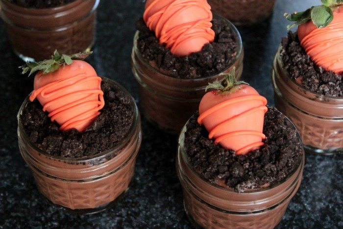Spring Dessert Pudding Cups