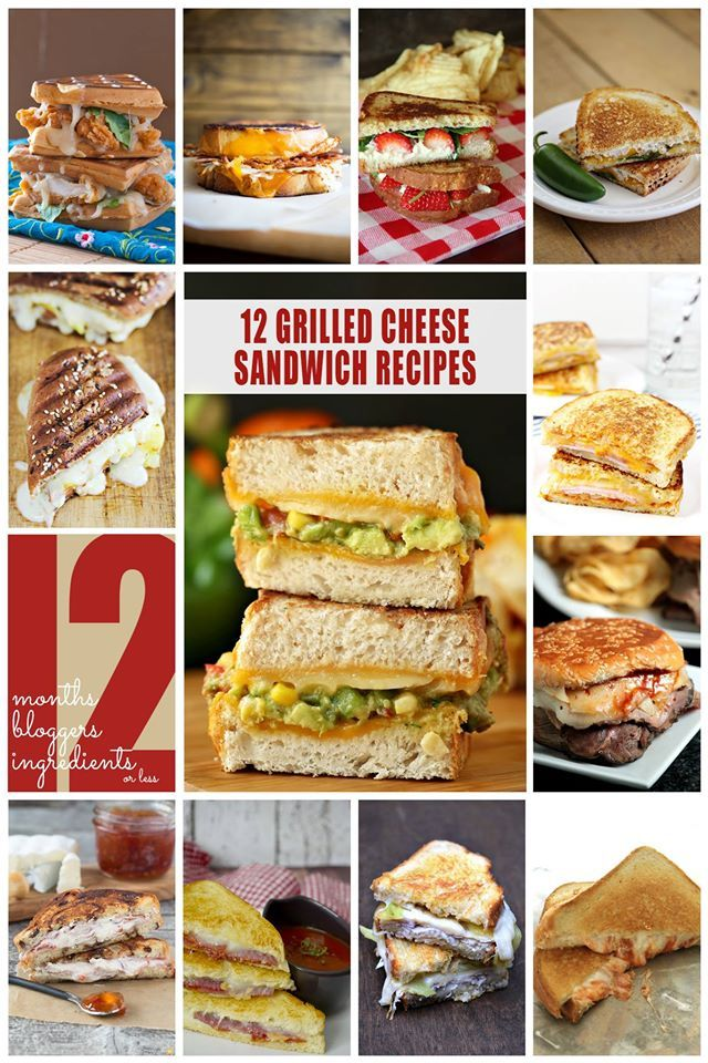 12 Grilled Cheese Sandwich Recipes!!!