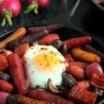 Baked Eggs over Maple Roasted Vegetables #BrunchWeek