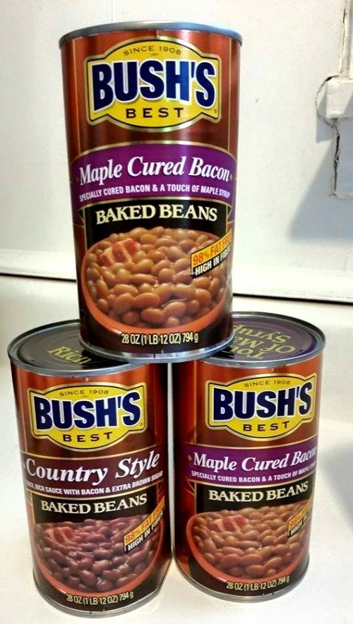 The base baked beans for the Easy Jack Daniels Baked Beans
