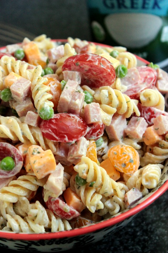Greek Yogurt Ranch Pasta Salad