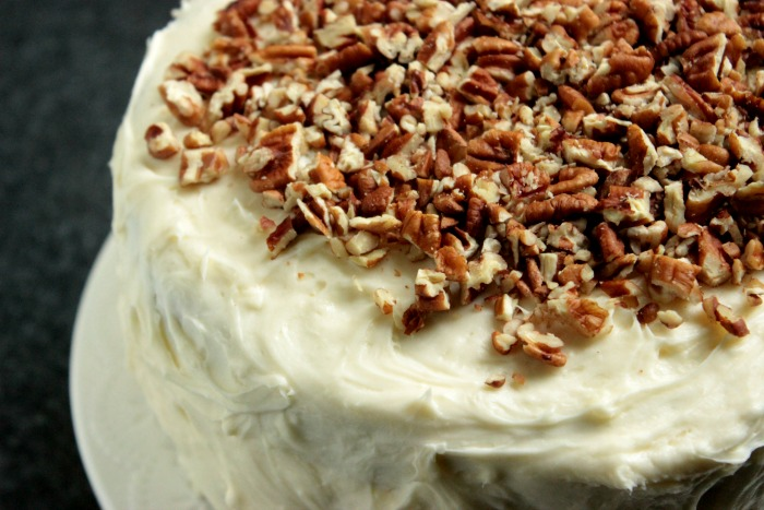 Hummingbird Cake is a spice cake loaded with pineapples, bananas and pecans. It's also layered and frosted with a thick cream cheese icing!