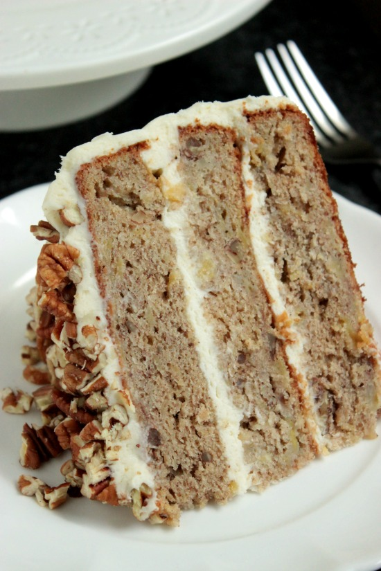 Slice of Hummingbird Cake