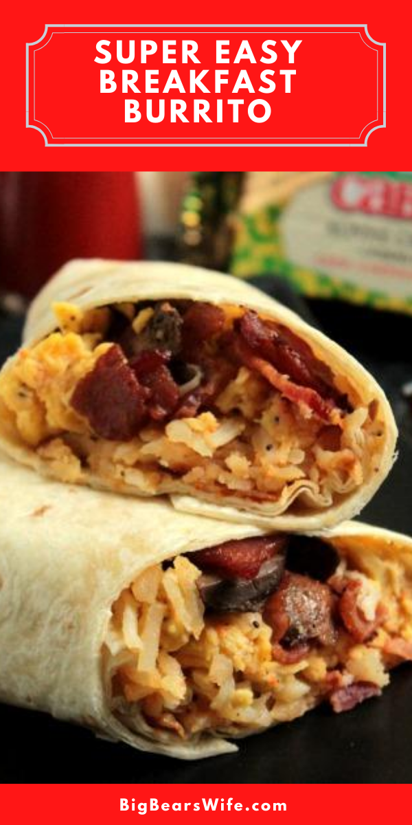 Make this Breakfast Burrito Recipe ahead of time and pop them into the freezer to have breakfast ready to go! Or make them in the morning! They don't take long at all!  Just prep everything the night before and you're ready to go!