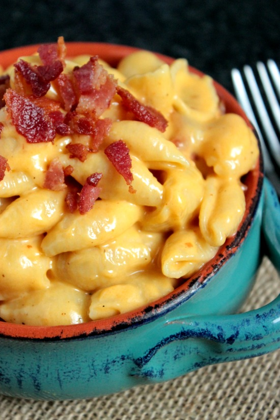 Shells and Cheese with Bacon