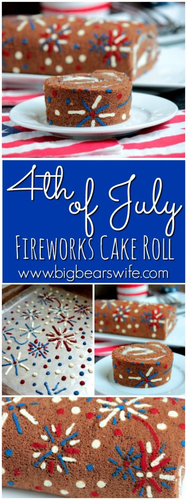 4th of July Fireworks Cake Roll
