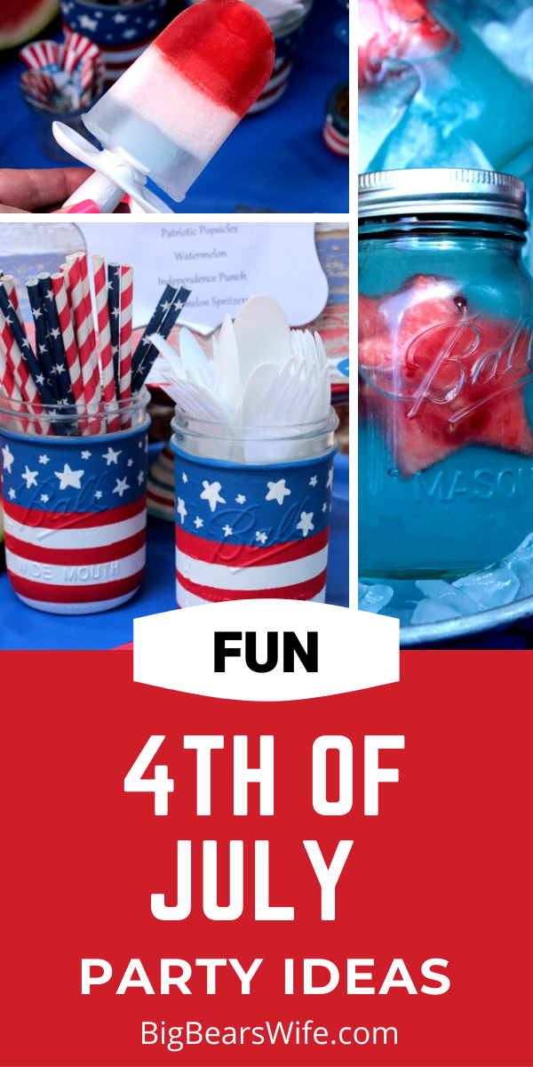 4th of July Party Ideas - Need some ideas for a Red, White and Blue 4th of July Party? Here are a few fun and easy 4th of July Party Ideas! DIY crafts, food tips and more!