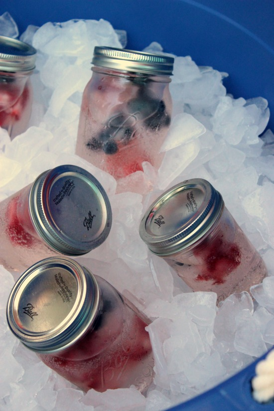 Drinks with Frozen Fruit Ice