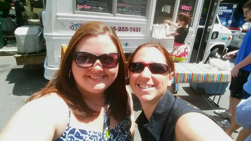 Brittani and I at the Raleigh Food Truck Rodeo