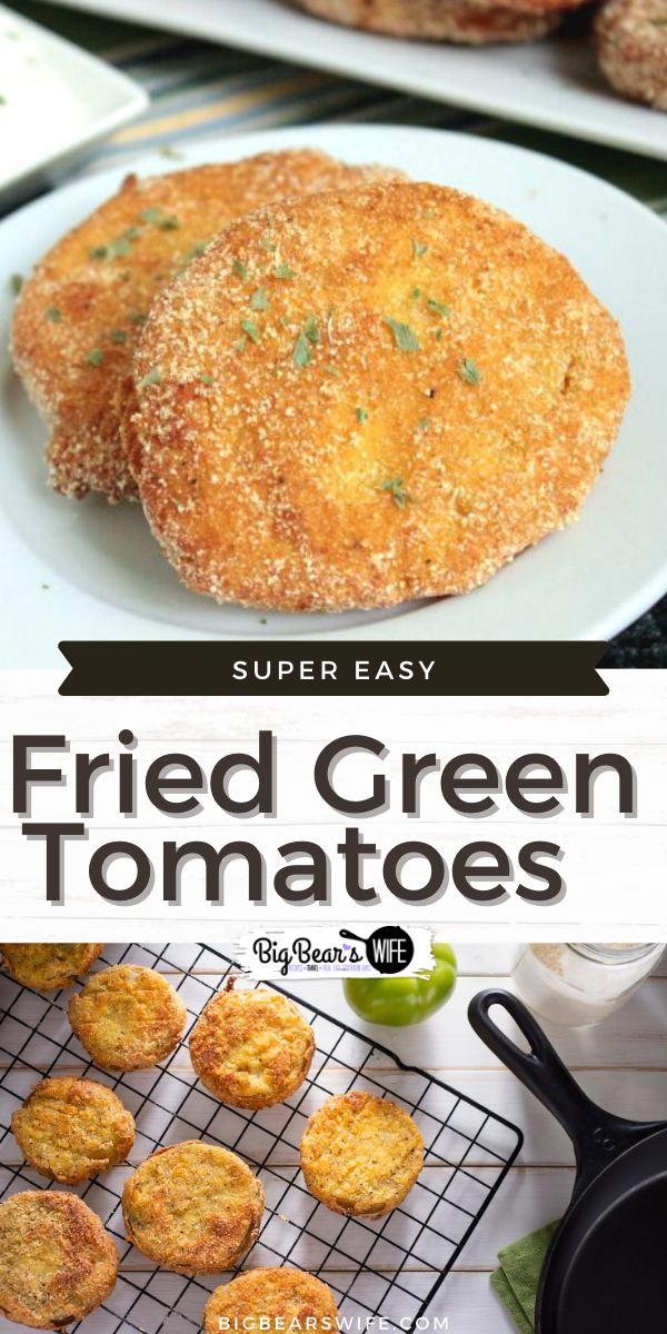Want to learn how to make some pretty tasty Homemade Fried Green Tomatoes? I've got the recipe for you! This is the Fried Green Tomato recipe that we love and we hope you'll love it too!  via @bigbearswife