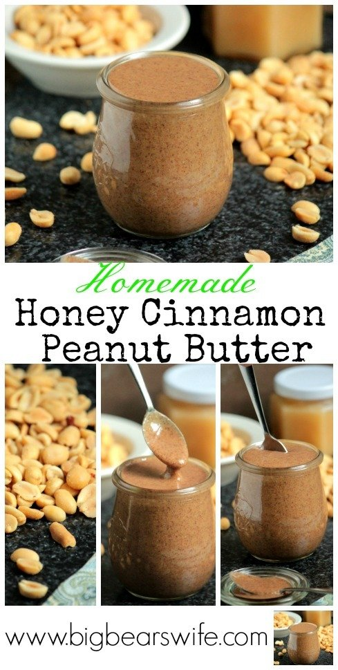 Homemade Honey Cinnamon Peanut Butter