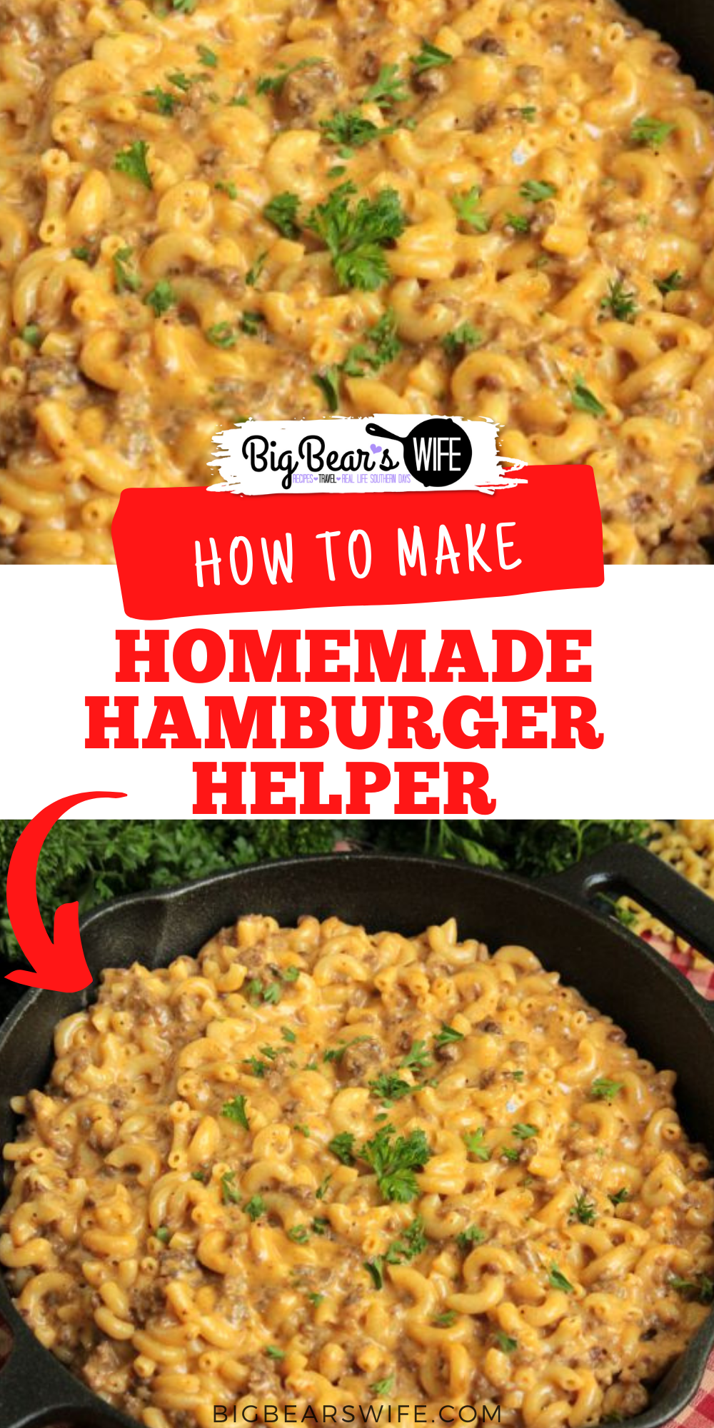 How many of y'all have tried to make Homemade Hamburger Helper before? This Cheeseburger Macaroni Skillet is my version of that favorite childhood dinner!