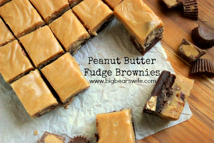 Peanut Butter Fudge Brownies #ExpressLaneCooking