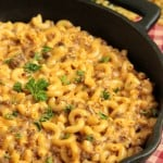 Cheeseburger Macaroni Skillet  – Homemade Hamburger Helper