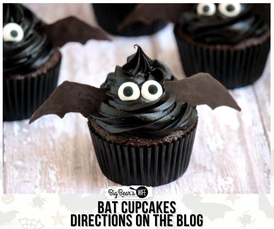Halloween Bat Cupcakes.Bat Cupcakes Big Bear S Wife