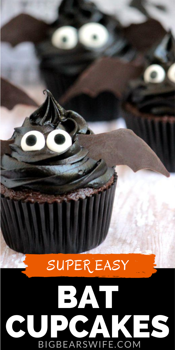 Ready for an easy cupcake that you can make for your Halloween Party? These Bat Cupcakes are exactly what you've been looking for!