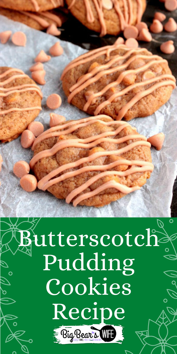 Butterscotch Pudding cookies are made from scratch with butterscotch pudding mixed right into the batter to make them super soft and chewy!