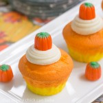 Candy Corn Cupcakes from Liz at ThatSkinnyChickCanBake.com