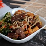 Beef & Ramen Noodle Stir Fry {& the Richmond NASCAR race VIP Style with Cargill Beef}