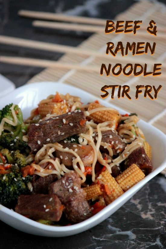Beef and Ramen Noodle Stir Fry