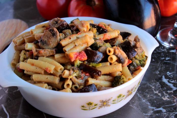 Eggplant Ziti Stir Fry