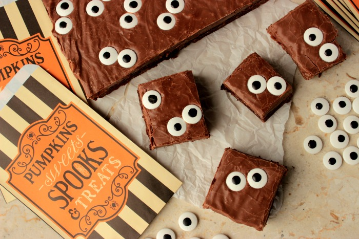 Spooky Eyeball Fudge Brownies