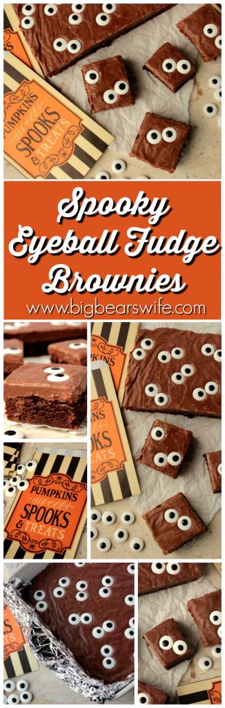 Spooky Eyeball Fudge Brownies