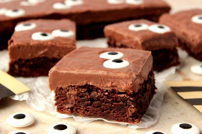 Side View of Eyeball Brownies