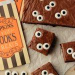 Spooky Eyeball Fudge Brownie