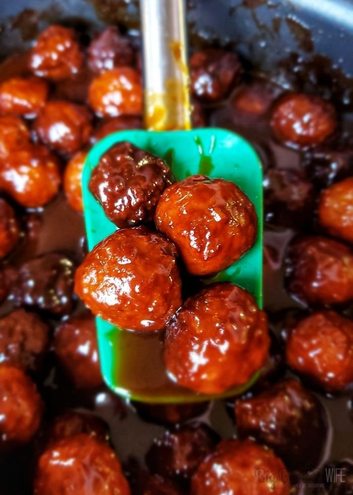 These super popular BBQ and Grape Jelly Crockpot Meatballs are always a hit at Thanksgiving at Christmas! They're super easy to make and everyone always loves them! I had no idea how easy they were until my mom showed me how to make them!