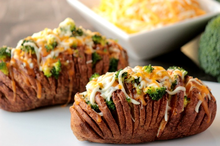 broccoli and cheese hasselback potatoes 12bloggers big
