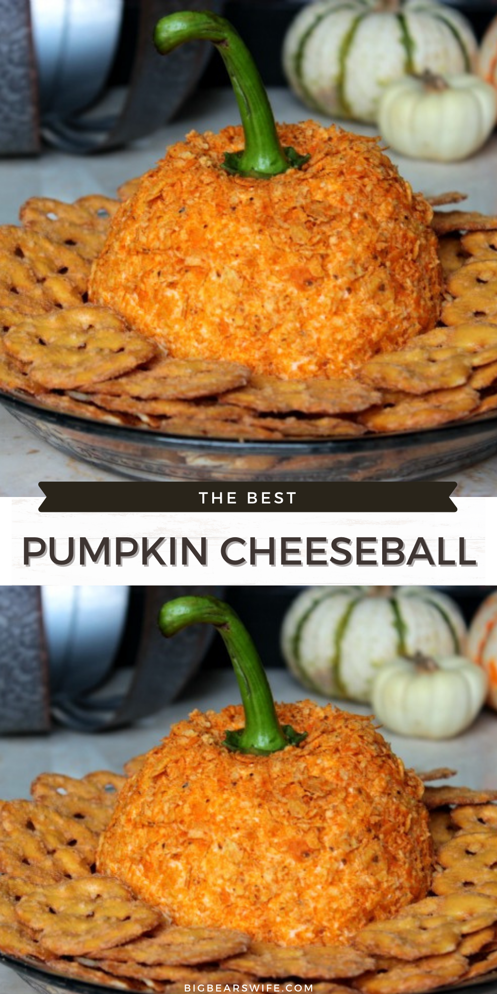Pumpkin Cheeseball - This pumpkin cheeseball has been making an appearance at our Thanksgiving dinners for a few years now! We love digging into it while we wait for Thanksgiving dinner to finish cooking!