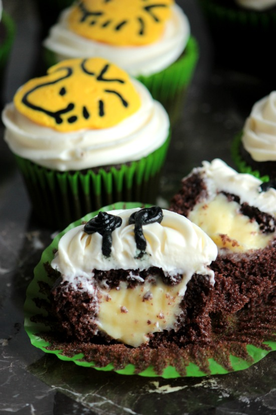 Woodstock Banana Pudding Filled Chocolate Cupcakes