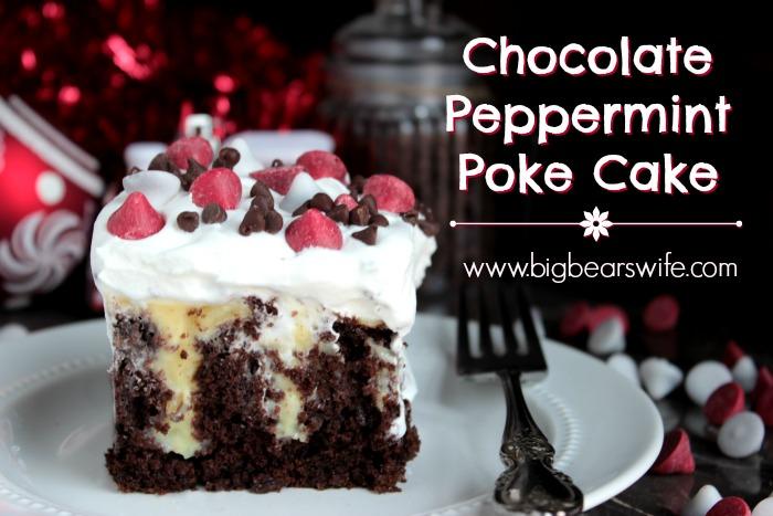 Chocolate Peppermint Poke Cake