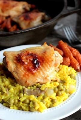 Garlic Roasted Chicken Thighs