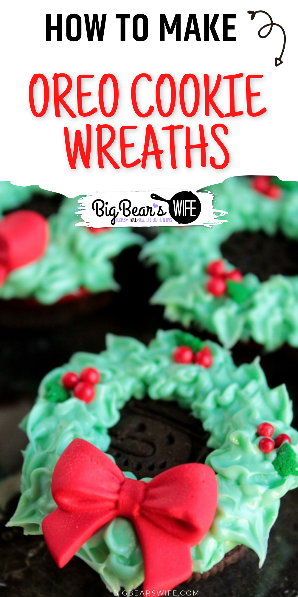 These no bake Christmas cookies are so cute to make and share with everyone this holiday season! No real decorating skills required! via @bigbearswife