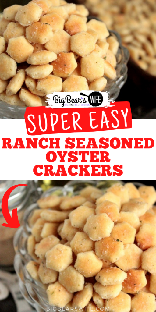 In need of a super simple dish to make for a party or just want to snack on a fun vintage recipe? These Ranch Seasoned Oyster Crackers are just what you need! Made with oyster crackers, ranch seasoning and a few more ingredients, these little crackers are delicious and super easy to make!