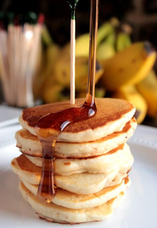 Banana Nut Silver Dollar Pancakes