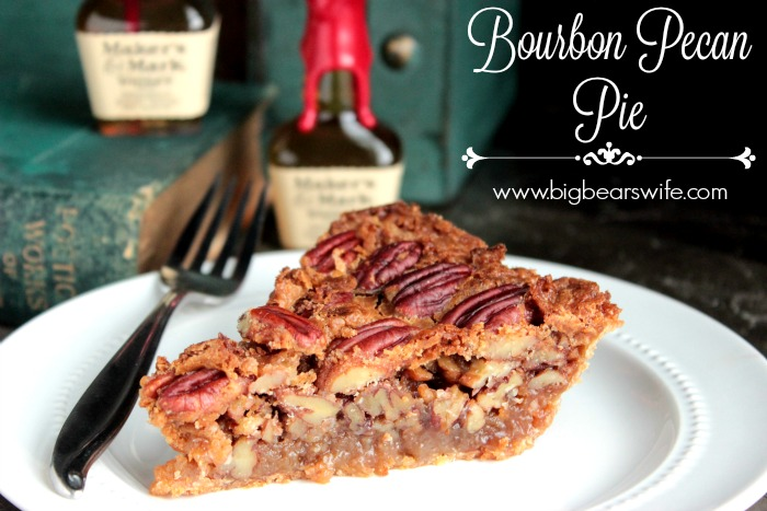 Bourbon Pecan Pie - A sweet classic southern pecan pie with the smooth touch of bourbon baked inside!