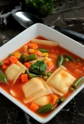 5 Ingredient Ravioli Soup
