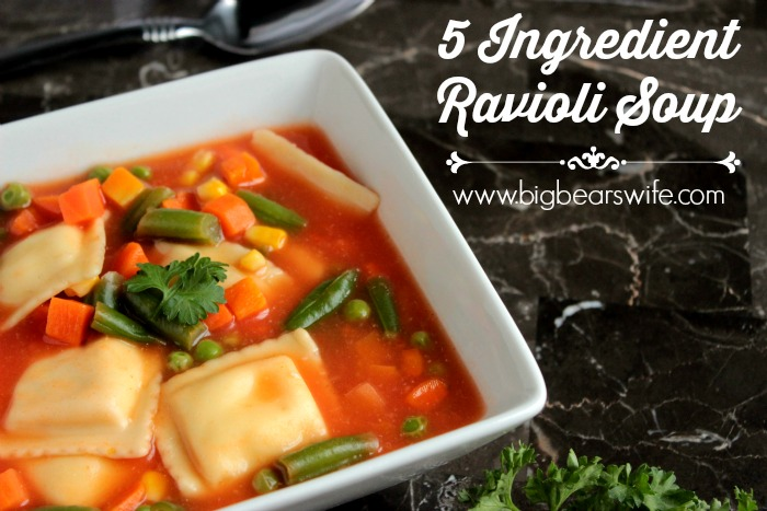 Love this 5 Ingredient Ravioli Soup