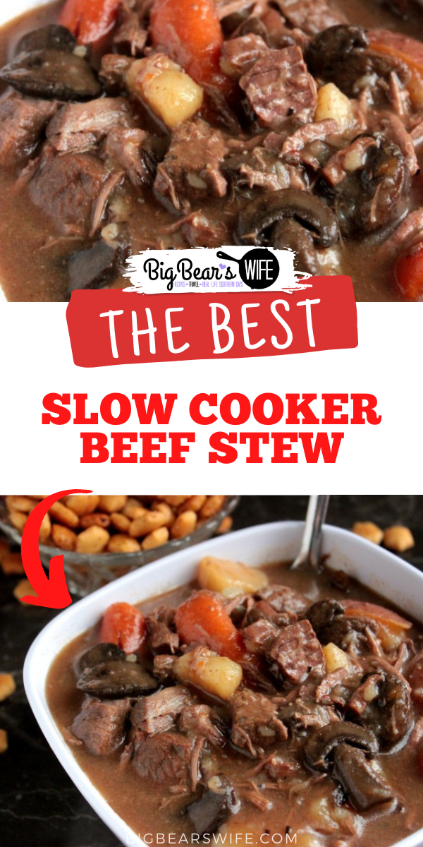 An amazing slow cooker recipe for fall and winter evenings! Slow Cooker Beef Stew is a recipe that you'll want to make over and over!  via @bigbearswife