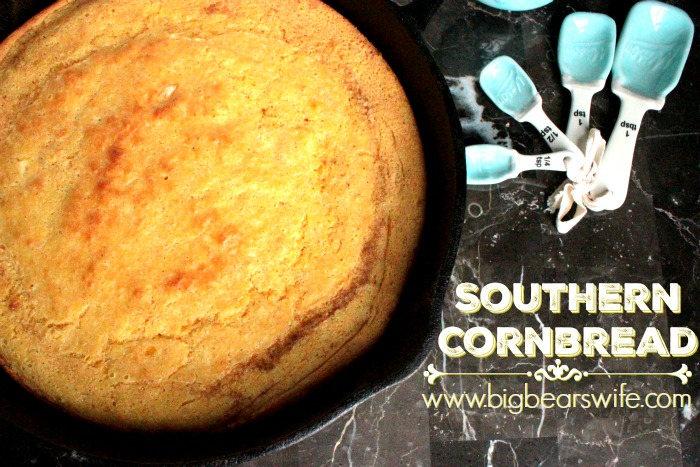 Southern Cornbread - Southern Skillet Cornbread